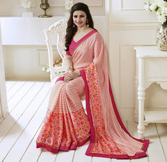Pink Color Satin Georgette Casual Function Sarees : Naitika Collection  YF-48071