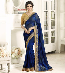 Blue Color Georgette Festival & Function Wear Sarees : Eshani Collection  YF-50802