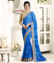 Blue Color Georgette Festival & Function Wear Sarees : Eshani Collection  YF-51541