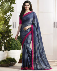 Blue Color Crepe Party Wear Sarees : Pamira Collection  YF-51571