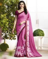 Pink Color Crepe Party Wear Sarees : Pamira Collection  YF-51574