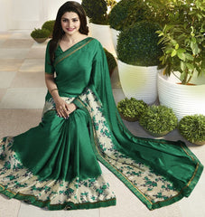 Green Color Crepe Party Wear Sarees : Pamira Collection  YF-51578