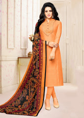 Peach Color Blended Cotton Semi Stitched Salwar Suits : Prabhati Collection  YF-60051