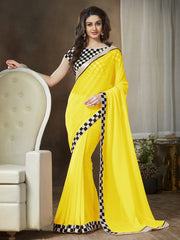 Yellow Color Georgette Party Wear Sarees : Ishani Collection  YF-30015