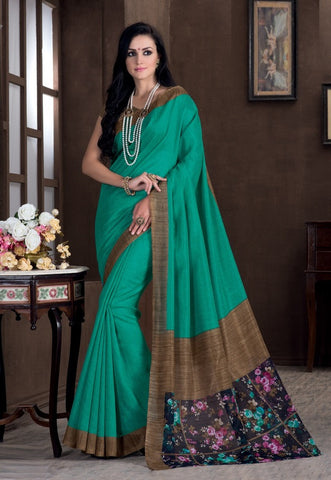 Pearl Green Color Bhagalpuri Casual Party Sarees : Rutali Collection  YF-46132