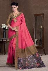 Pink Color Bhagalpuri Casual Party Sarees : Rutali Collection  YF-46133
