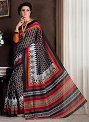Black & Brown Color Bhagalpuri Casual Party Sarees : Rutali Collection  YF-46299