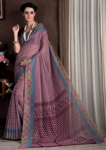 Pink & Maroon Color Bhagalpuri Casual Party Sarees : Rutali Collection  YF-46300