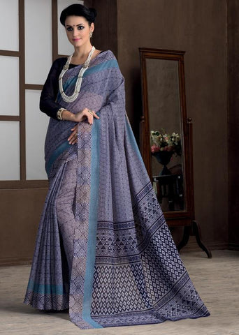 Blue Color Bhagalpuri Casual Party Sarees : Rutali Collection  YF-46301