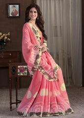 Pink Color Bhagalpuri Casual Party Sarees : Alika Collection  YF-44429