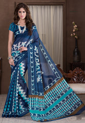 Blue Color Bhagalpuri Casual Party Sarees : Alika Collection  YF-44432