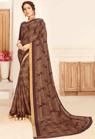 Beige Color Silk Cotton Casual Party Sarees : Vaigya Collection  YF-45175