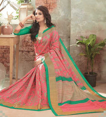 Pink Color Bhagalpuri Festival & Party Wear Sarees : Gritika Collection  YF-46144