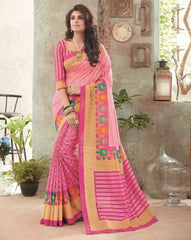 Pink Color Bhagalpuri Festival & Party Wear Sarees : Gritika Collection  YF-46147