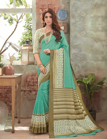 Pearl Green Color Bhagalpuri Festival & Party Wear Sarees : Gritika Collection  YF-46151