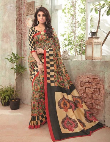 Multi Color Bhagalpuri Festival & Party Wear Sarees : Gritika Collection  YF-46166