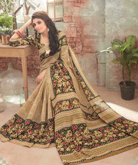 Beige Color Bhagalpuri Festival & Party Wear Sarees : Gritika Collection  YF-46171