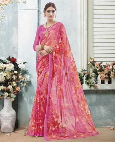Pink Color Bhagalpuri Casual Wear Sarees : Arinya Collection  YF-46896