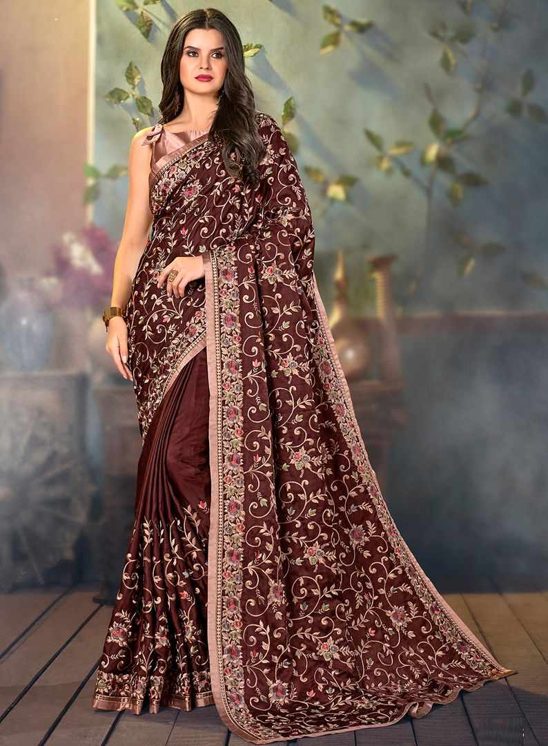 Maroon Color Art Silk Designer Hand Weaving Sarees : Alankit Collection  NYF-2918 - YellowFashion.in