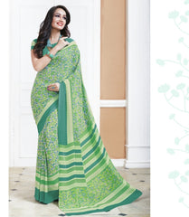 Green Color Crepe Office Wear Sarees : Shukti Collection  YF-47718