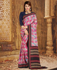Multi Color Crepe Casual Wear Sarees : Nahir Collection  YF-56322