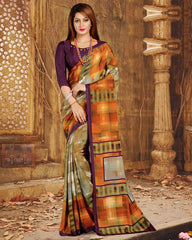 Multi Color Crepe Casual Wear Sarees : Nahir Collection  YF-56323