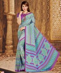 Green & Blue Color Crepe Casual Wear Sarees : Nahir Collection  YF-56324