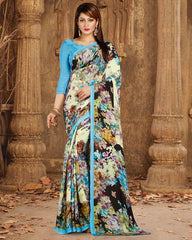 Multi Color Crepe Casual Wear Sarees : Nahir Collection  YF-56332
