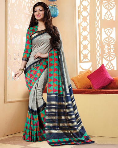 Grey Color Bhagalpuri Casual Wear Sarees : Neva Collection  YF-46976