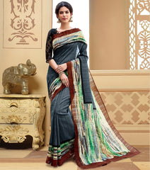 Grey Color Bhagalpuri Casual Wear Sarees : Neva Collection  YF-46987