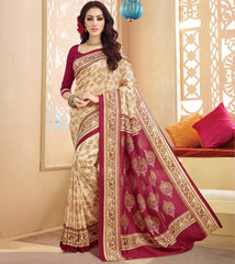 Light Coffee & Maroon Color Bhagalpuri Casual Wear Sarees : Neva Collection  YF-46989