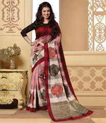 Pink Color Bhagalpuri Casual Wear Sarees : Neva Collection  YF-46995