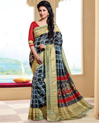 Grey Color Bhagalpuri Casual Wear Sarees : Neva Collection  YF-46996