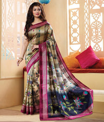 Pink & Blue Color Bhagalpuri Casual Wear Sarees : Neva Collection  YF-46997