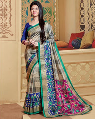 Green & Blue Color Bhagalpuri Casual Wear Sarees : Neva Collection  YF-46999