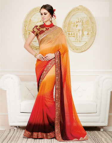 Multi Color Georgette Party Wear Sarees : Nirisha Collection  YF-36891