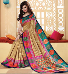 Golden Color Bhagalpuri Casual Wear Sarees : Neva Collection  YF-47004