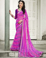 Pink & Purple Color Georgette Party Wear Sarees : Trishla Collection  YF-37977