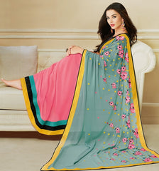 Pink Color Georgette Festival & Party Wear Sarees : Mihira Collection  YF-42899