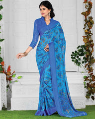 Blue Color Georgette Kitty Party Sarees : Parishi Collection  YF-40913