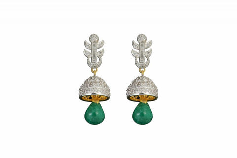 Earring   Fine CZ (Cubic Zerconia) Jewellery   : Ethnic Fashion Collection -  YF-9325