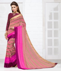Pink Color Georgette Casual Wear Sarees : Olena Collection  YF-43861
