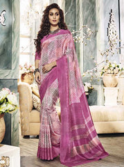 Pink Color Bhagalpuri Casual Party Sarees : Vinishka Collection  YF-49535
