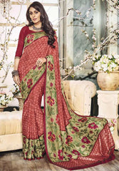 Gajjaria Color Bhagalpuri Casual Party Sarees : Vinishka Collection  YF-49539