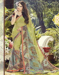 Light Green Color Georgette Casual Wear Sarees : Dharini Collection  YF-44327