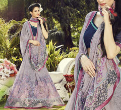 Lavender Color Georgette Casual Wear Sarees : Dharini Collection  YF-44328