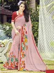 Baby Pink Color Georgette Casual Wear Sarees : Dharini Collection  YF-44340