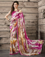 Pink Color Georgette Kitty Party Sarees : Shamli Collection  YF-45863
