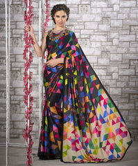 Multi Color Crepe Kitty Party Sarees : Shamli Collection  YF-45880
