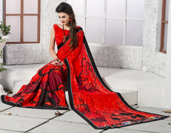 Red Color Crepe Party Wear Sarees : Inara Collection  YF-36601